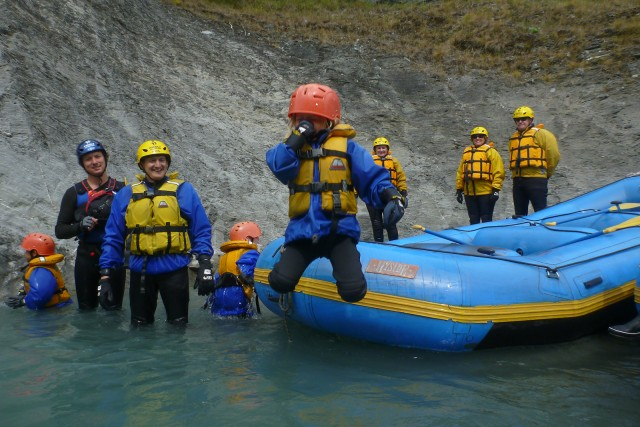 Verena's jump from the raft