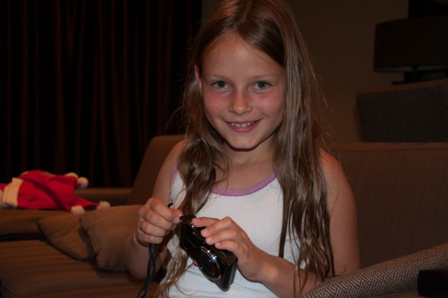 Anna with her new camera