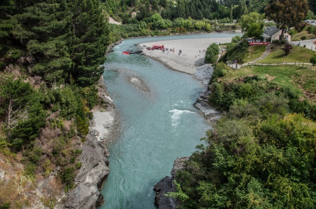 The Shotover River from the Edith Cavell Bridge