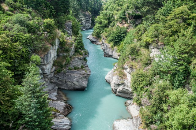 The Shotover Canyon from the Edith Cavell Bridge
