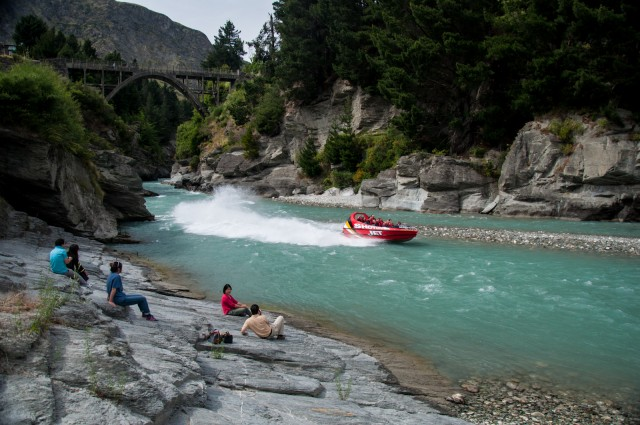 Jetboating on the Shotover River