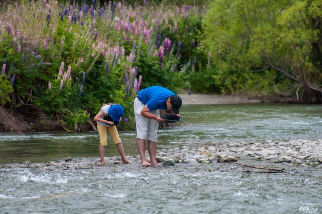 Goldwashing at the Arrow River