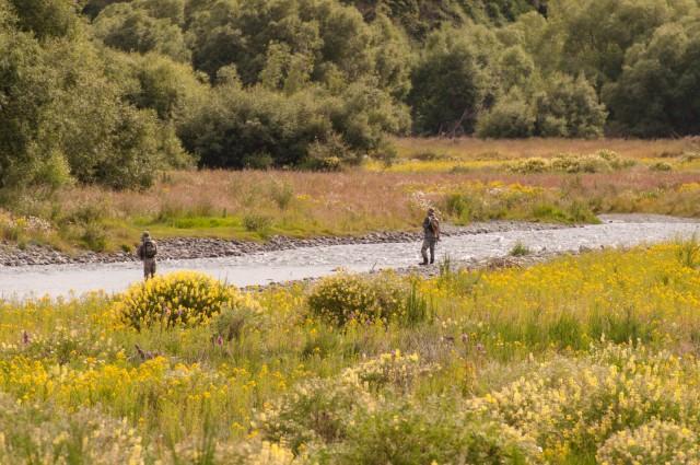 Fishermen at Oreti River