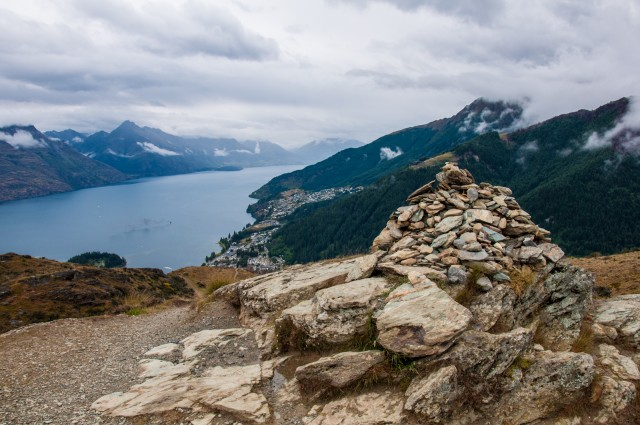 Lake Wakatipu and Queenstown from Queenstown Hill