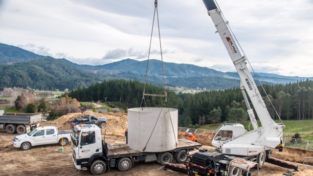 A massive crane