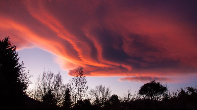 Amazing cloud formation at sunset