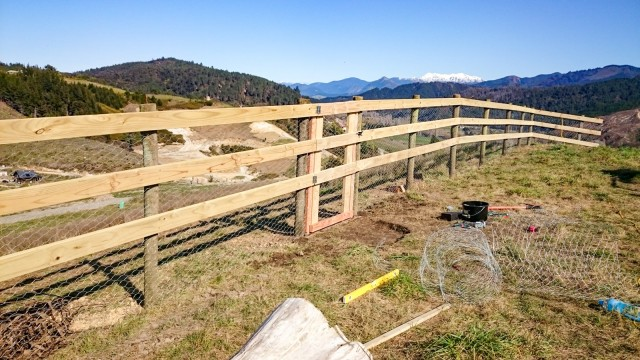 Creating a gate on the hilltop