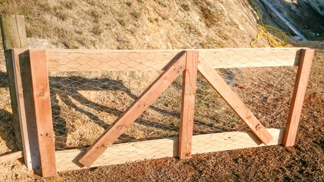 Finished farm gate