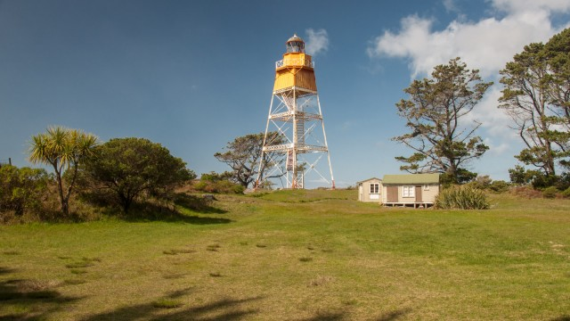 Said to be the only open steel frame lighthouse in NZ