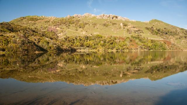 Mirror flat lake