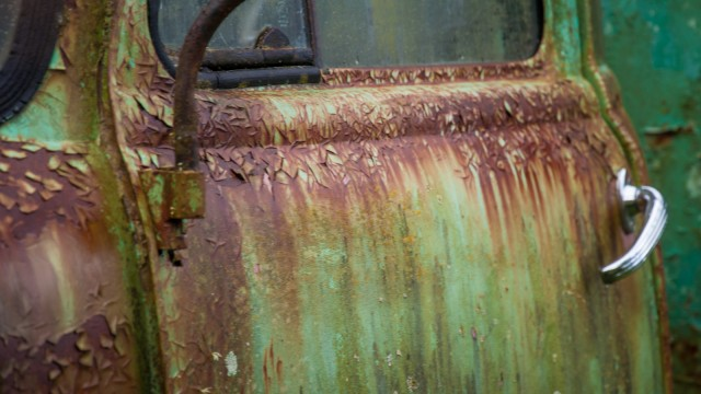Real rust, no stylish retro effect ;)