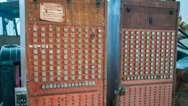 Telephone switch board, last used 1982!