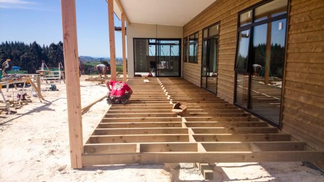 Deck frames completed