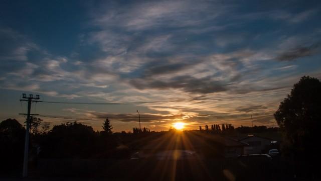 Sunset in Christchurch.