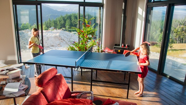 We realized our living room is large enough for a table tennis table :)