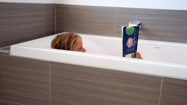 Reading in the bath tub