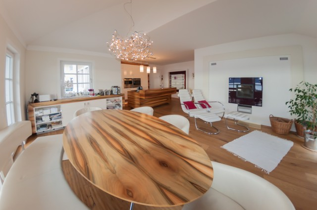 The second open plan kitchen