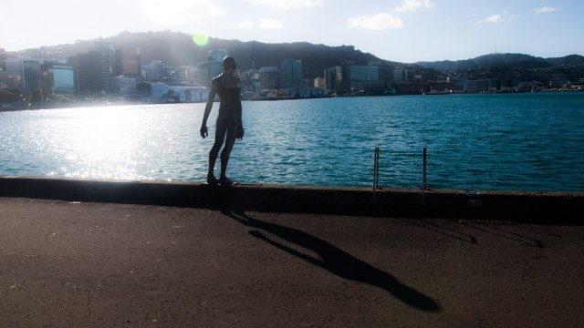 Time on the seaside walk around Te Papa.