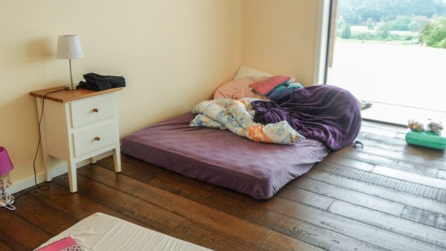Anna's bed when we first moved in