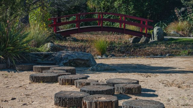 express your adventurous nature while stumbling over the wooden bridge and never let your goal out of sight