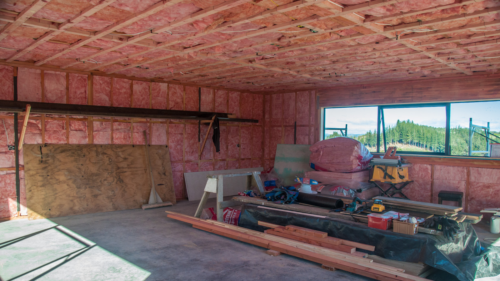 All The Wall Insulation Is In